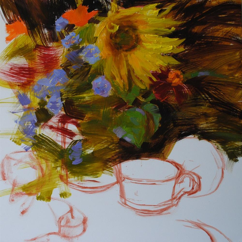 """Still Life in Progress"" original fine art by Elena Katsyura"