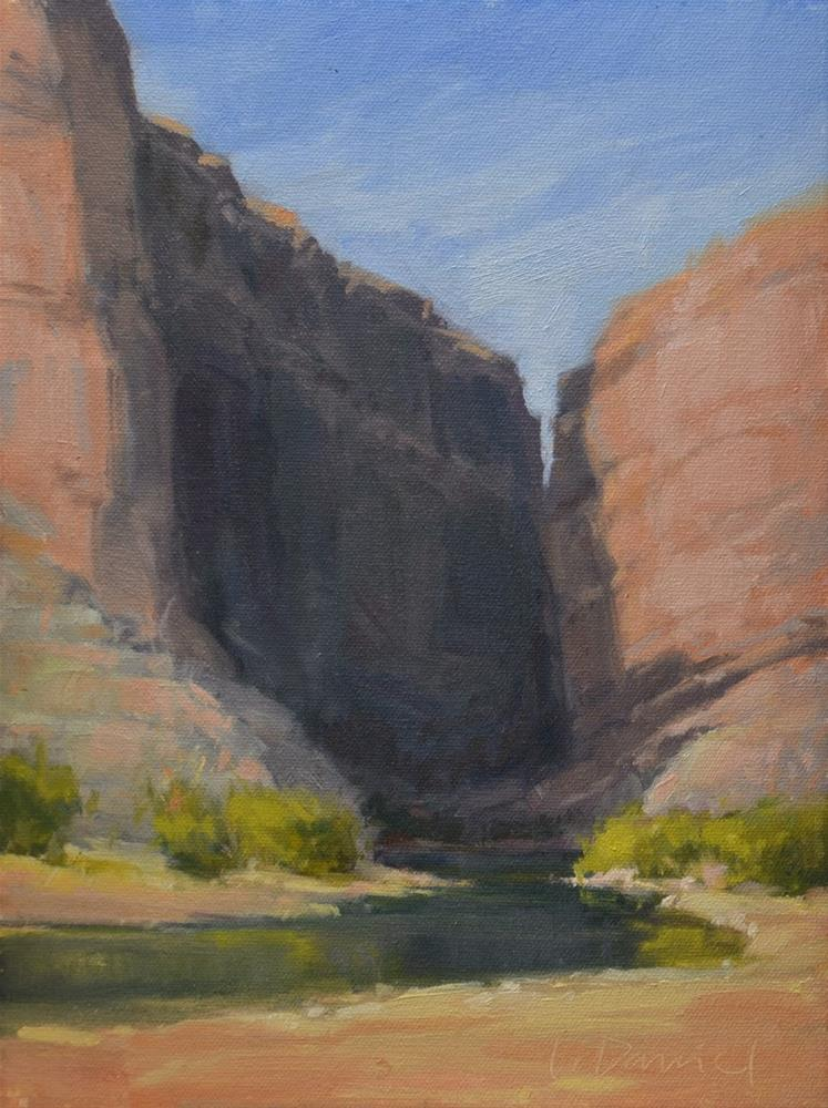 """Santa Elena Canyon - Big Bend, Texas"" original fine art by Laurel Daniel"