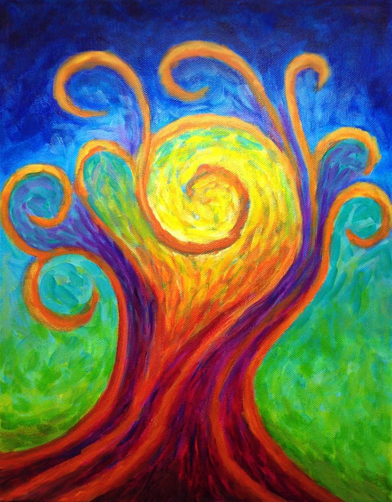 """Swirls of Inspiration"" original fine art by Susan Bertocci"