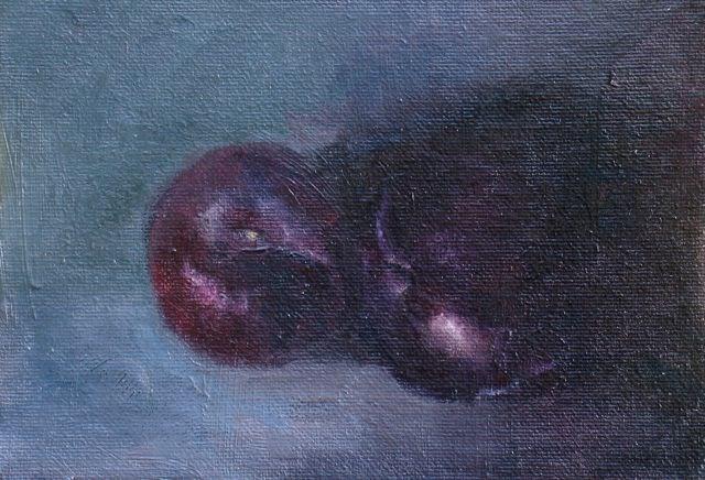 """""""Plum 2"""" original fine art by Susan Hammer"""