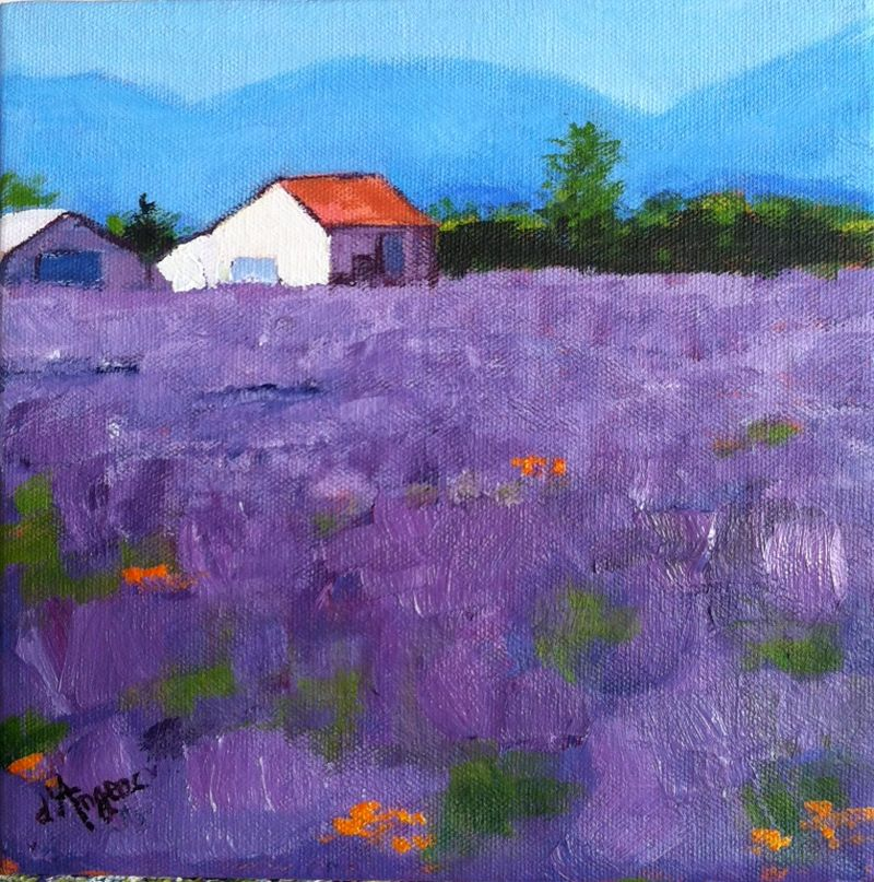 """Lavender in Provence I"" original fine art by Karen D'angeac Mihm"