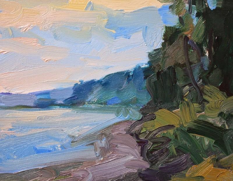 """Port Townsend Beach"" original fine art by Kathryn Townsend"
