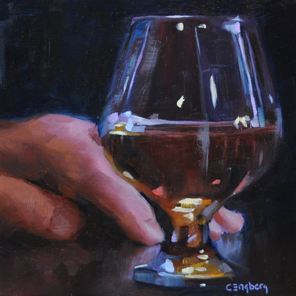 """""""Snifter"""" original fine art by Cathy Engberg"""