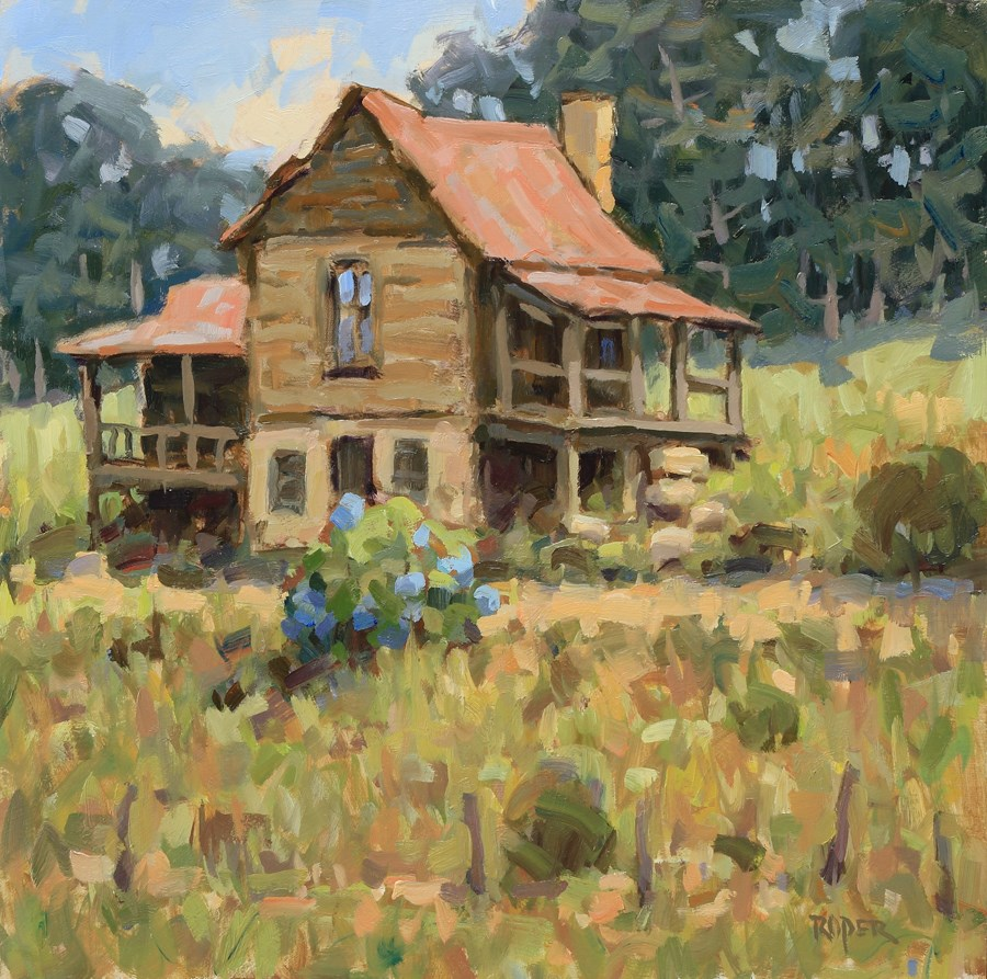 """""""DAY 28 #2: The Old Homeplace"""" original fine art by Stuart Roper"""