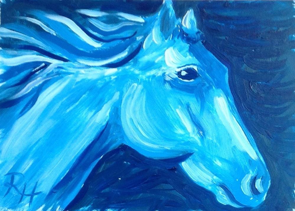 """""""Night Run"""" original fine art by Rachel  Holland"""