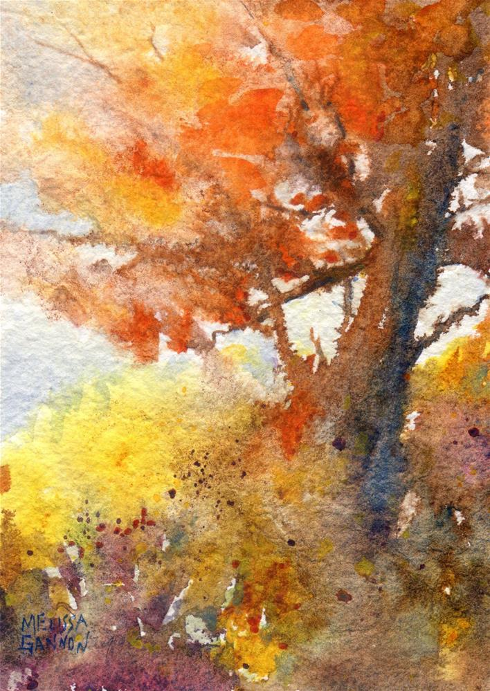 """Story Telling Tree"" original fine art by Melissa Gannon"