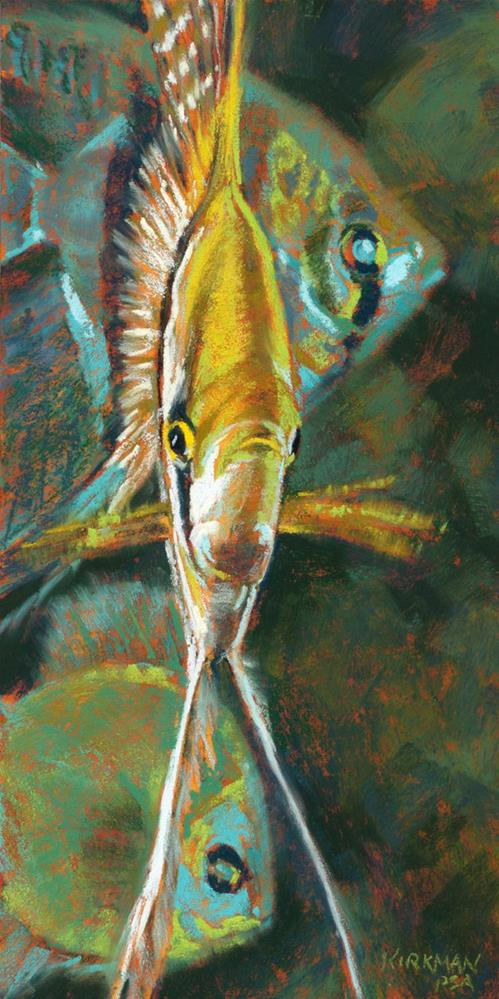 """A is for Angelfish"" original fine art by Rita Kirkman"