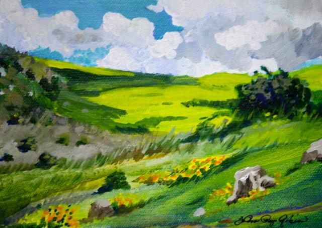 """Early Spring"" original fine art by JoAnne Perez Robinson"