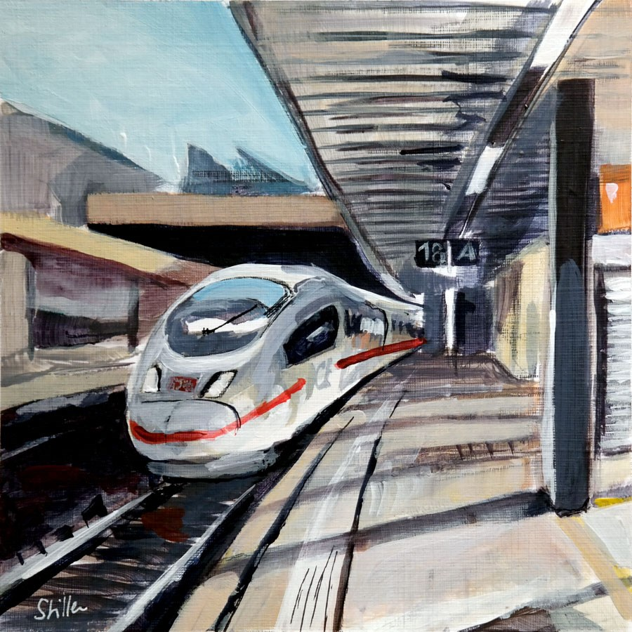 """2010 Intercity Express"" original fine art by Dietmar Stiller"