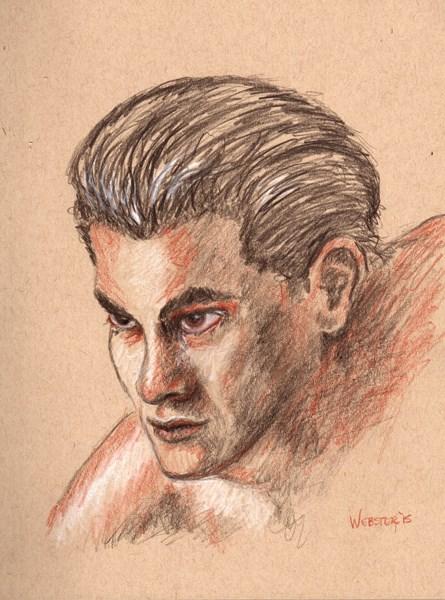 """""""Mark Webster - Untitled Portrait Sketch"""" original fine art by Mark Webster"""