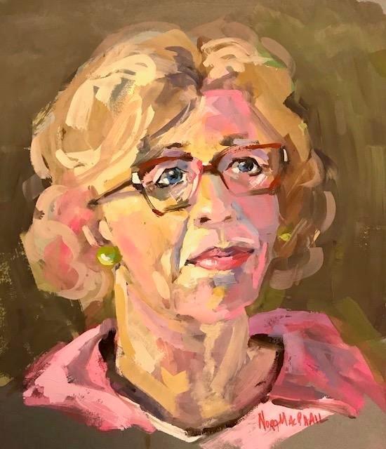 """hot pink"" original fine art by Nora MacPhail"