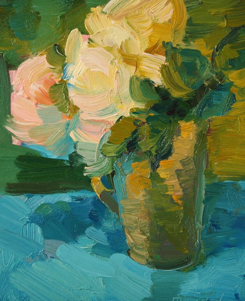 """Flowers in a Cup"" original fine art by Kathryn Townsend"