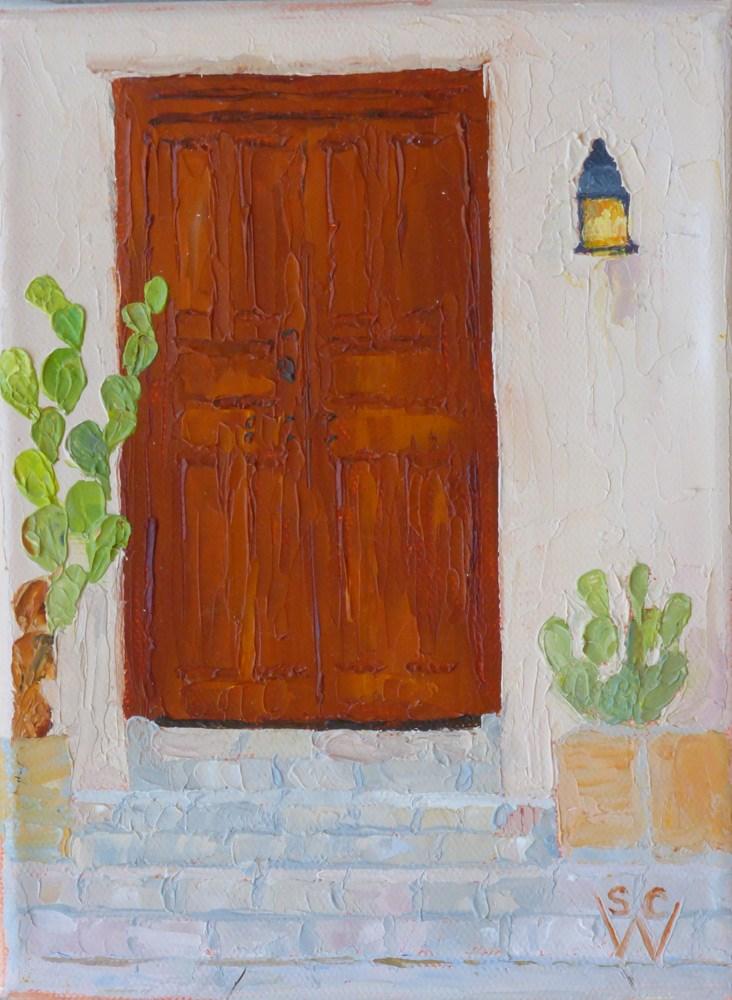 """""""El Presidio Historic District #2"""" original fine art by Susan Woodward"""