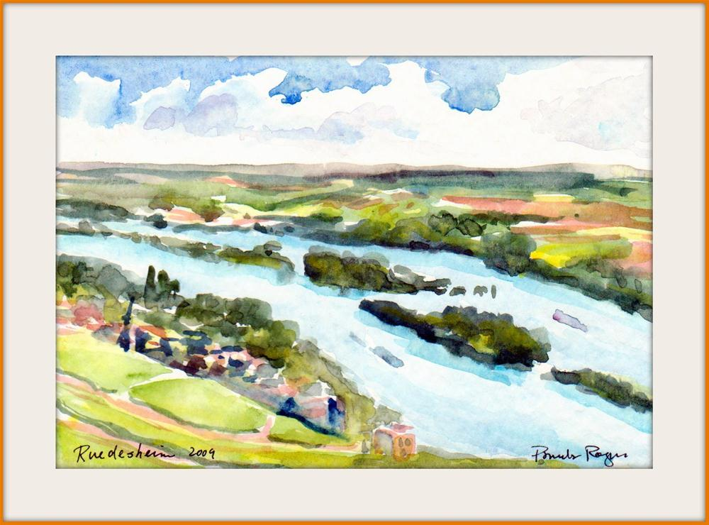 """Rudesheim Spring"" original fine art by Pamela Jane Rogers"