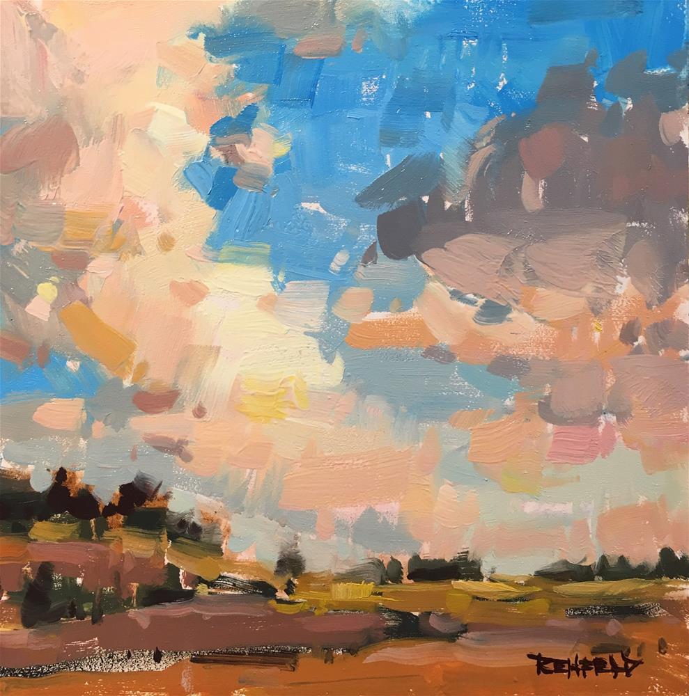 """Clouds in a Landscape"" original fine art by Cathleen Rehfeld"