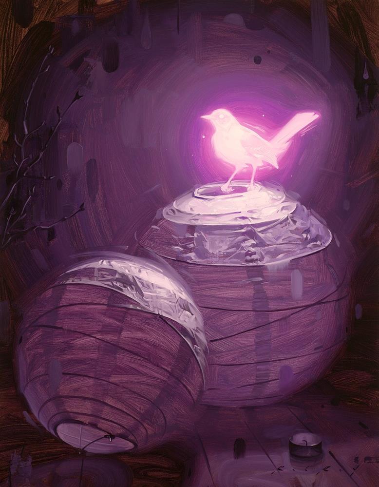 """Bioluminescence II"" original fine art by Rob  Rey"