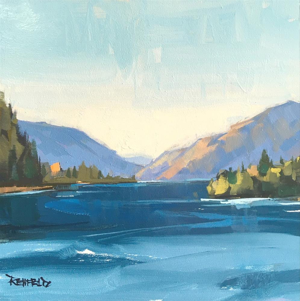"""Looking Down The Gorge"" original fine art by Cathleen Rehfeld"