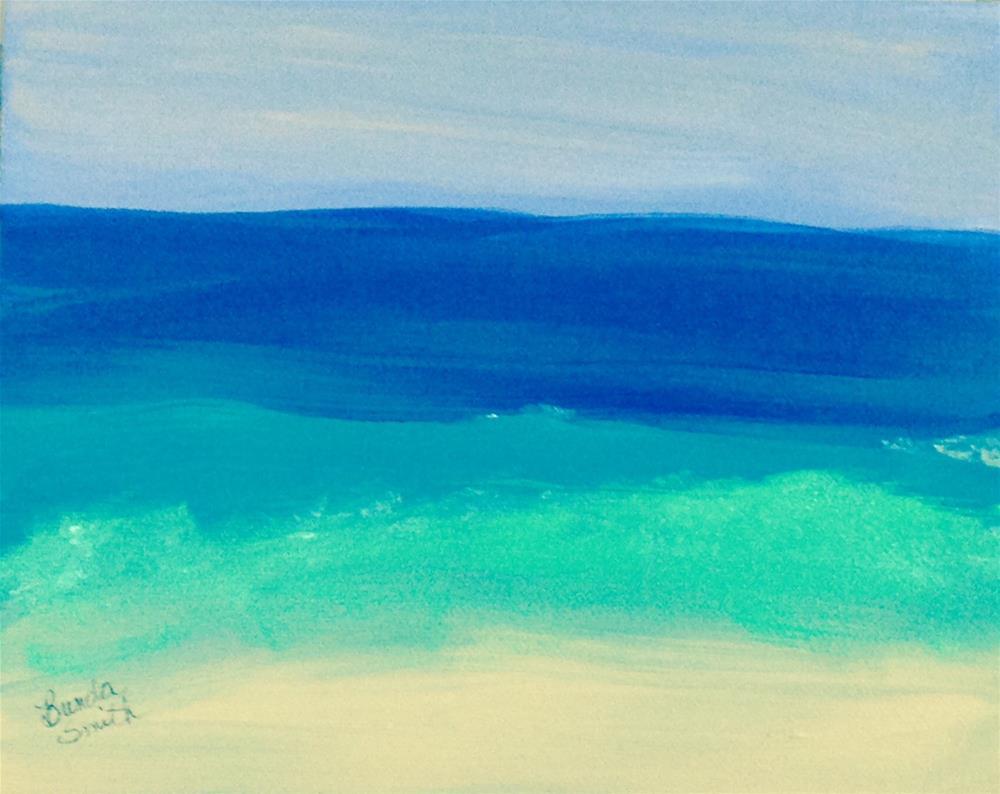 """Beach Memories"" original fine art by Brenda Smith"