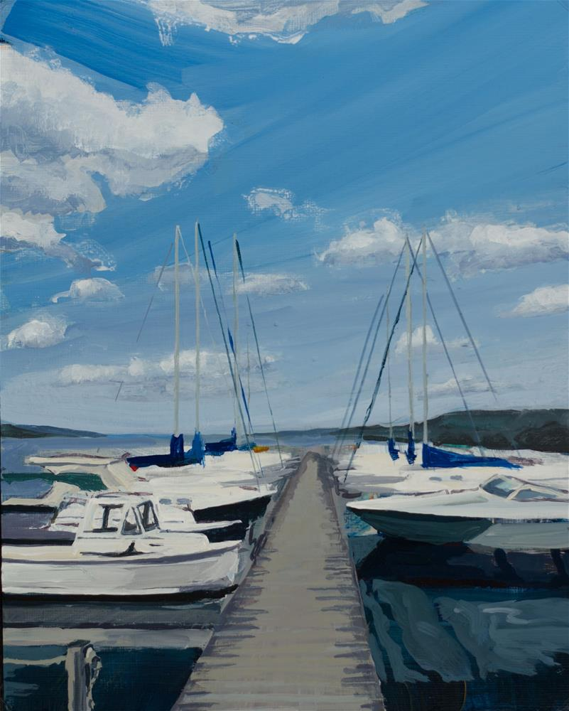 """Boats, Seneca Lake"" original fine art by Chris Breier"