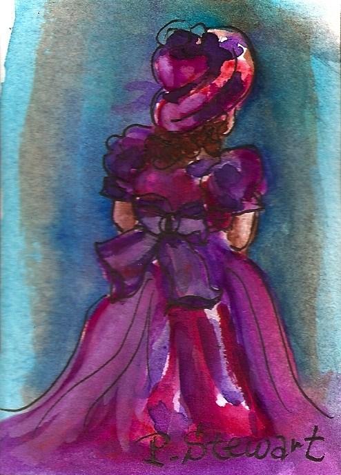 """""""ACEO Flower Girl"""" original fine art by Penny Lee StewArt"""
