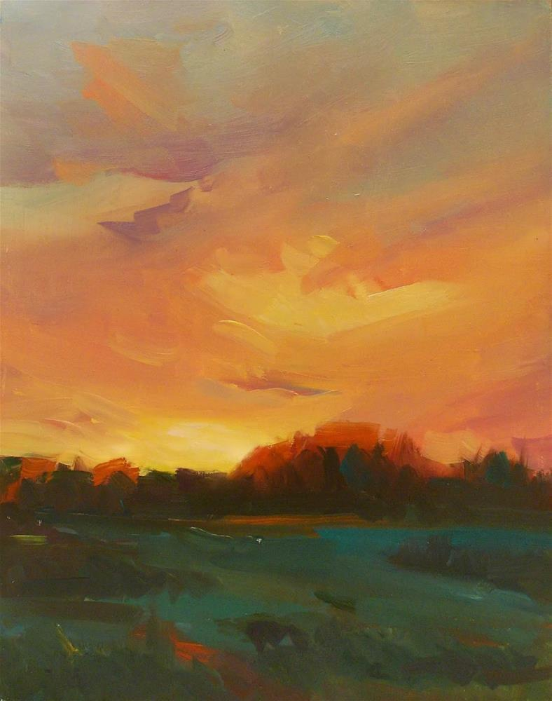 """' DANIEL'S SKY "" original fine art by Doug Carter"