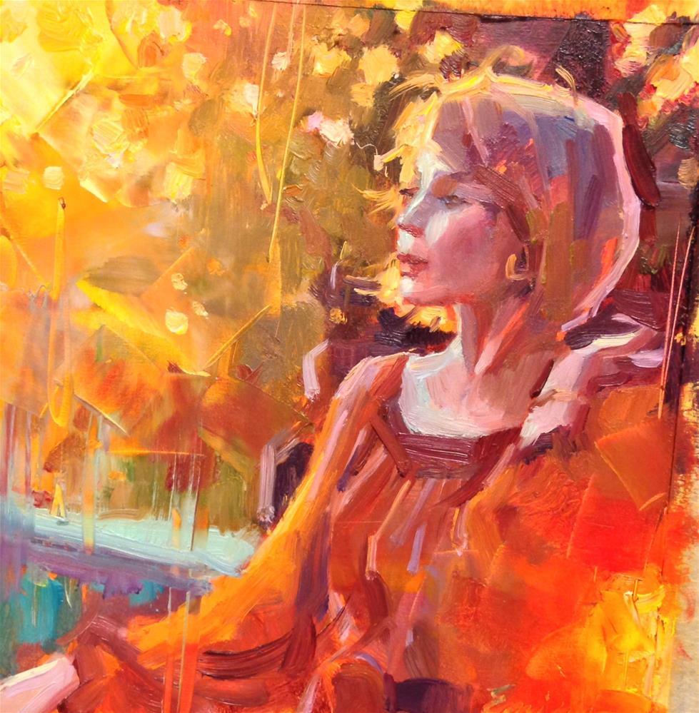 """""""Water under the Bridge"""" original fine art by Emiliya Lane"""