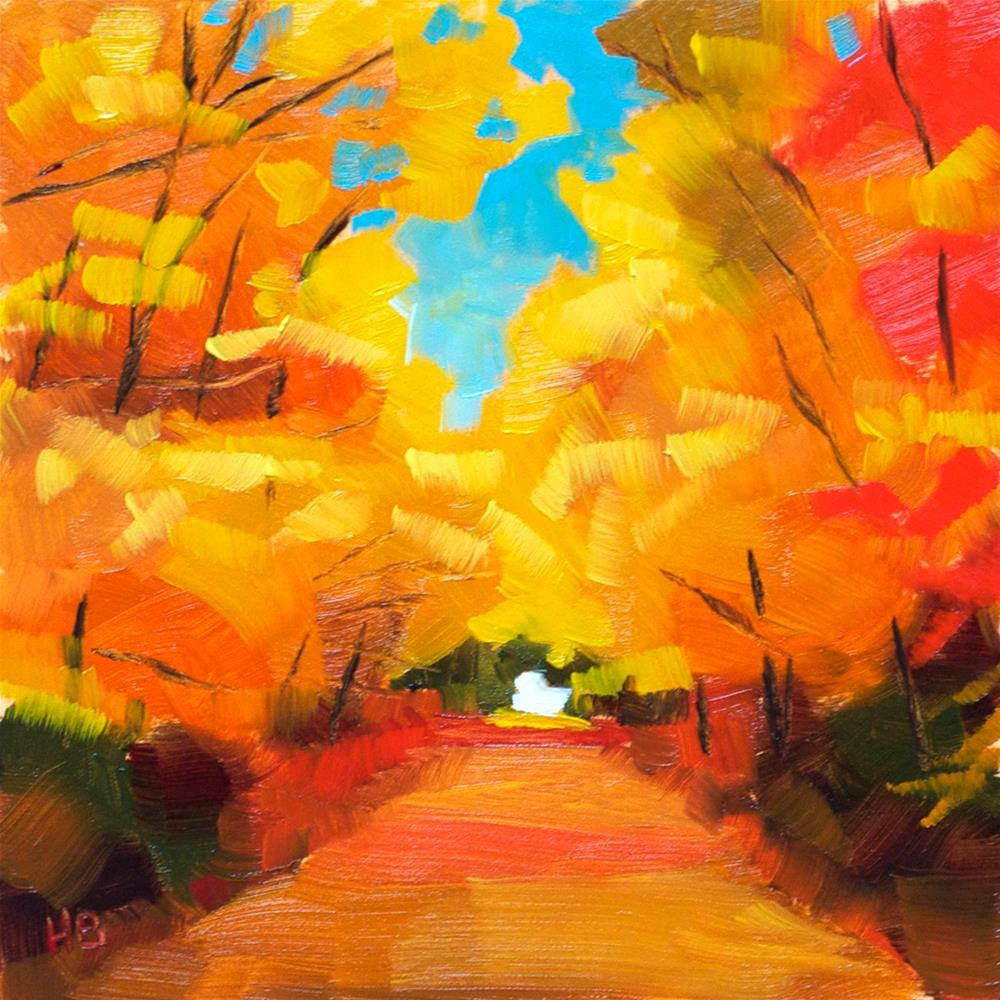 """""""Golden Canopy"""" original fine art by Heather Bullach"""