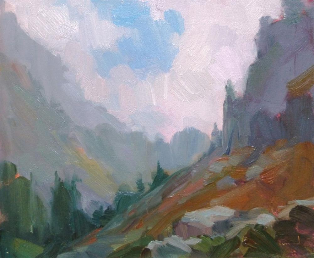 """""""Artist Point In Mist"""" original fine art by Kathryn Townsend"""