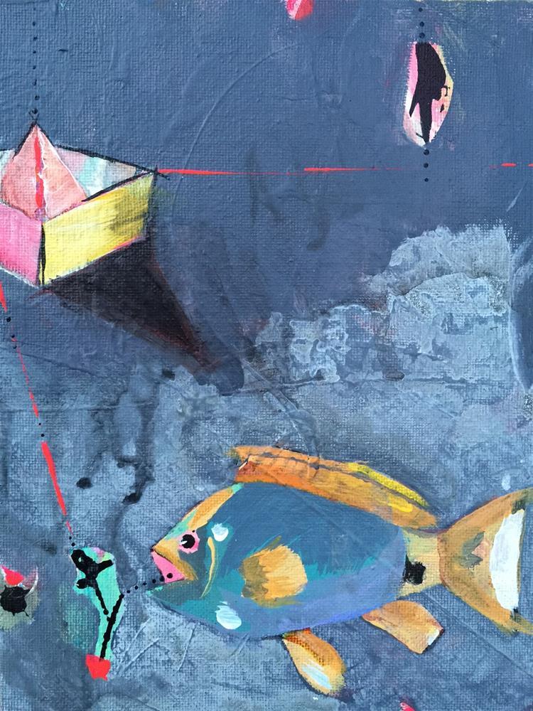 """""""42 Grouper"""" original fine art by Jenny Doh"""