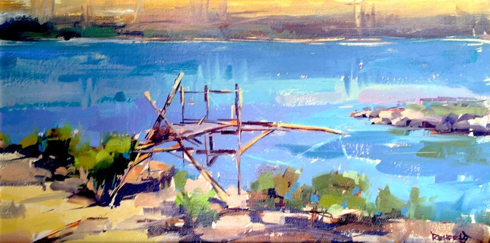 """Native Fishing Platforms"" original fine art by Cathleen Rehfeld"