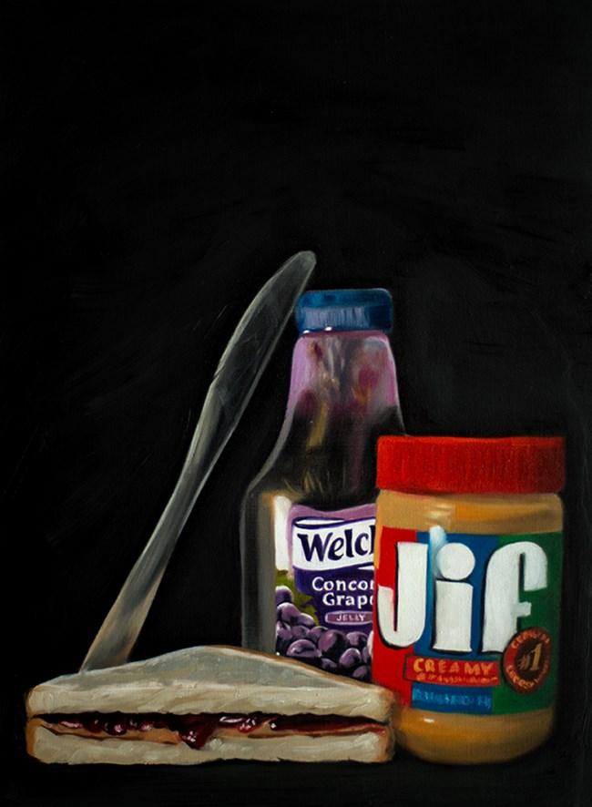 """Peanut Butter & Jelly #2"" original fine art by Lauren Pretorius"