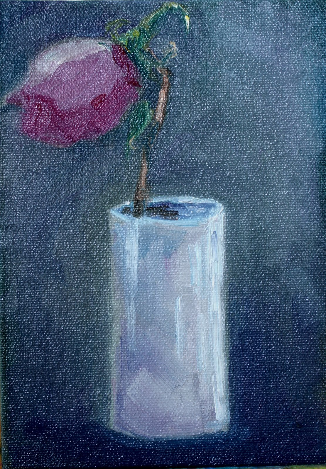 """Hey There Lonely Rose"" original fine art by Maggie Flatley"