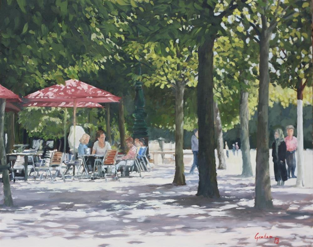 """Cafe Diane"" original fine art by Graham Townsend"