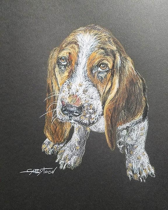 """A Puppy"" original fine art by Gabriella DeLamater"