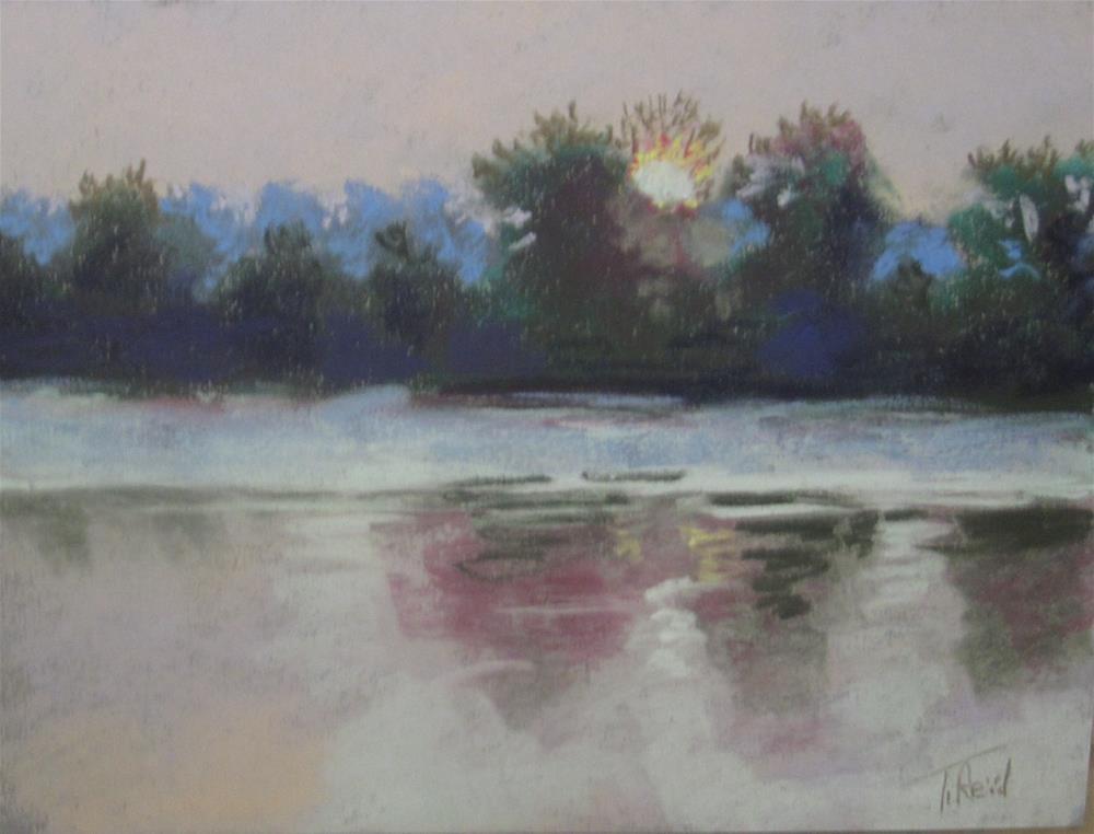 """Morning on the River"" original fine art by Toby Reid"