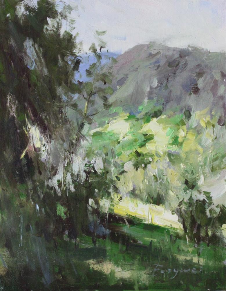 """""""landscape 17-001"""" original fine art by Fongwei Liu"""