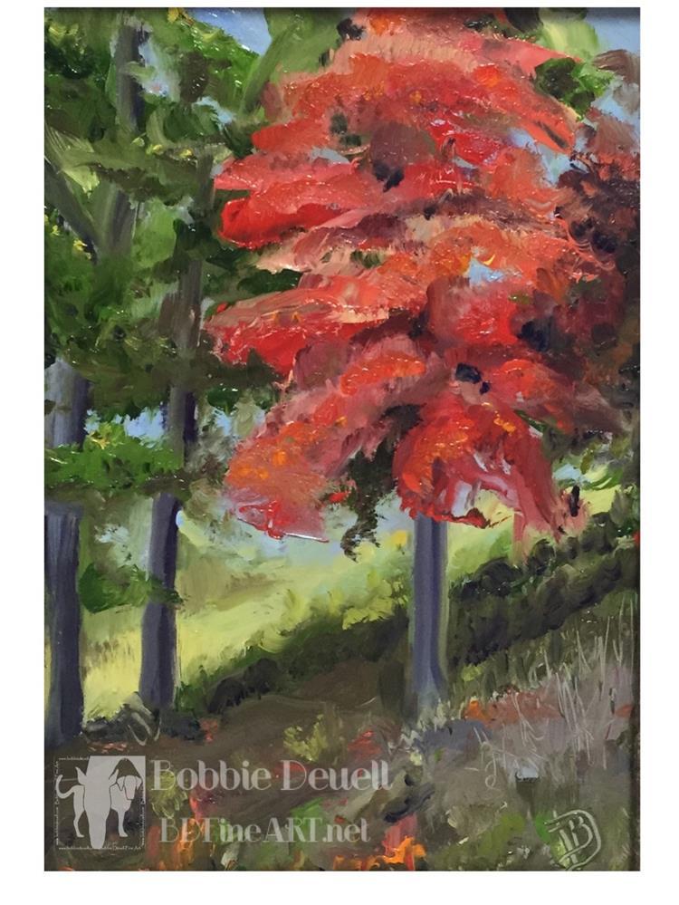 """""""#6 Scarlet"""" original fine art by Bobbie Deuell"""