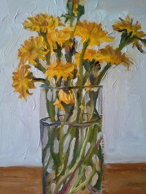 """Dandelions"" original fine art by Darlene Young"