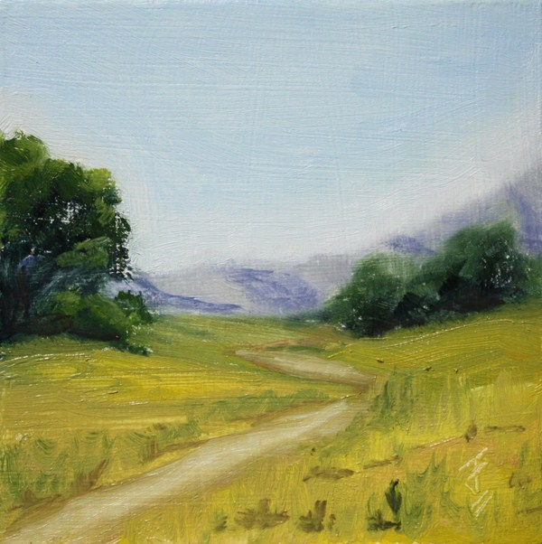 """Trail Less Traveled"" original fine art by Jane Frederick"