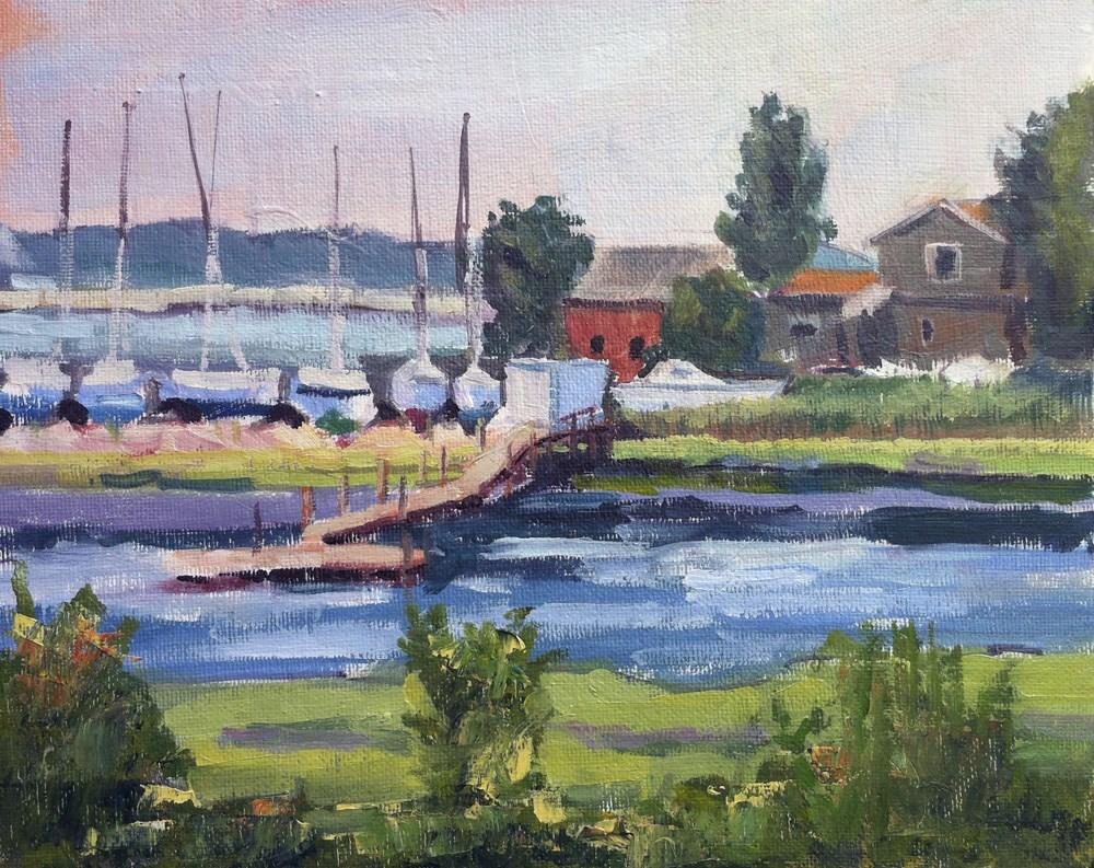 """Sitting Pretty - Plein Air - Branford, CT"" original fine art by Linda Marino"