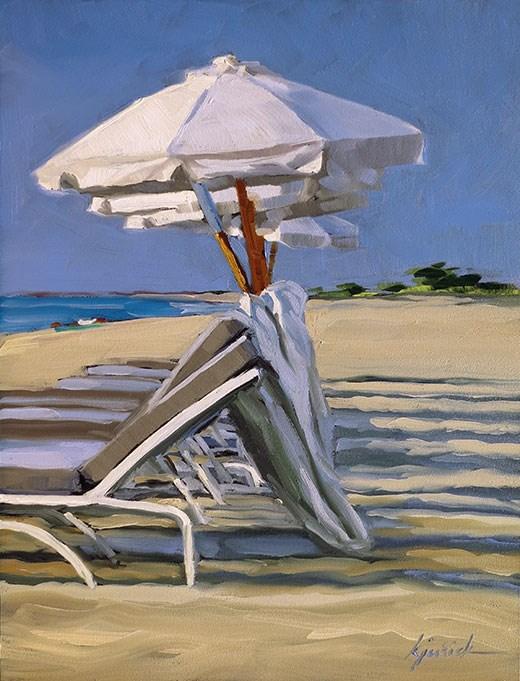 """""""Umbrellas"""" original fine art by Karin Jurick"""