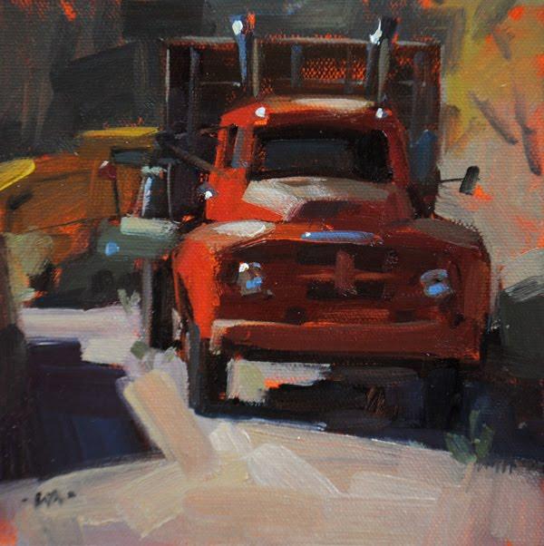 """Sunburned"" original fine art by Carol Marine"