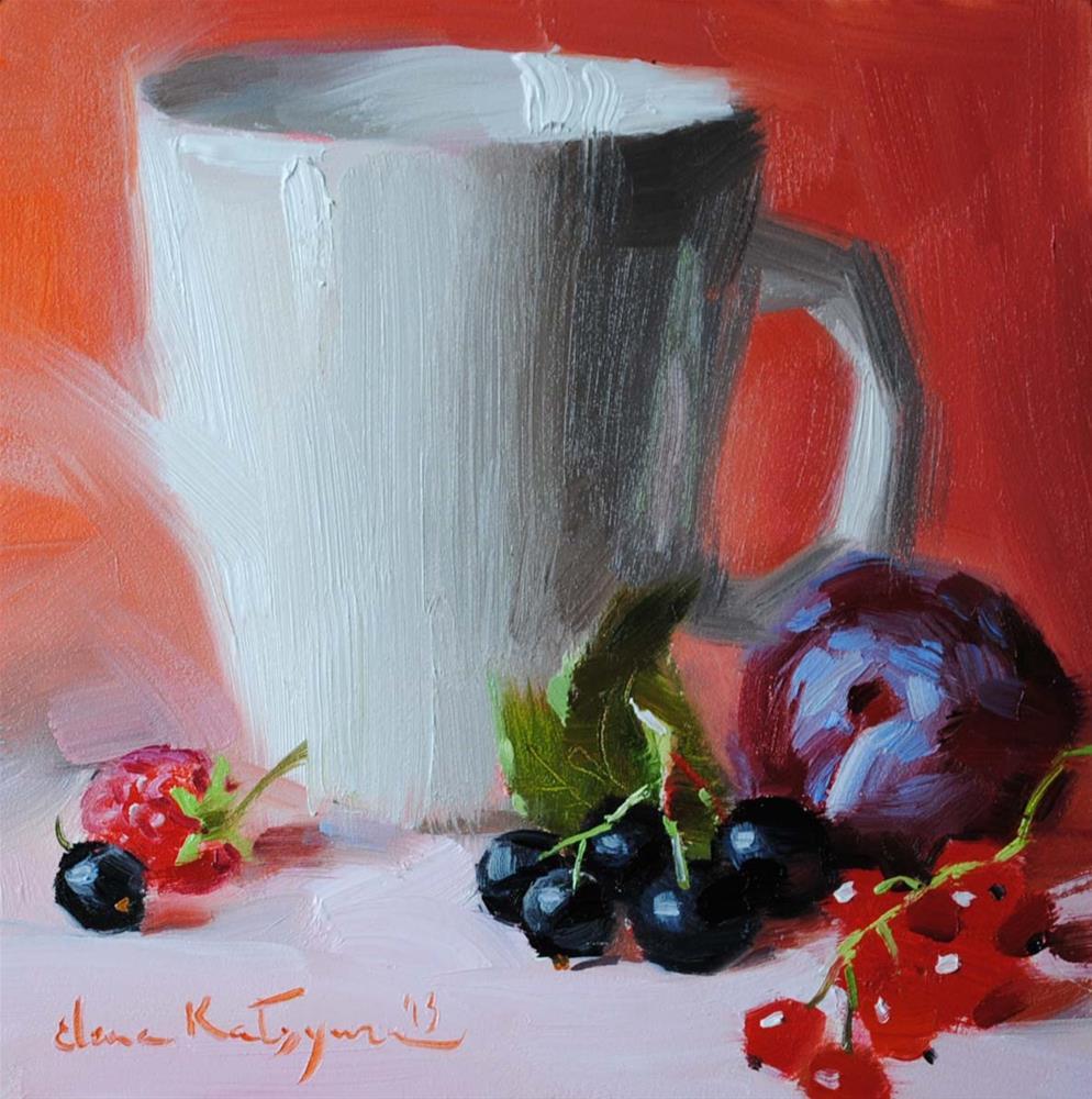 """Blackcurrant and Redcurrant"" original fine art by Elena Katsyura"
