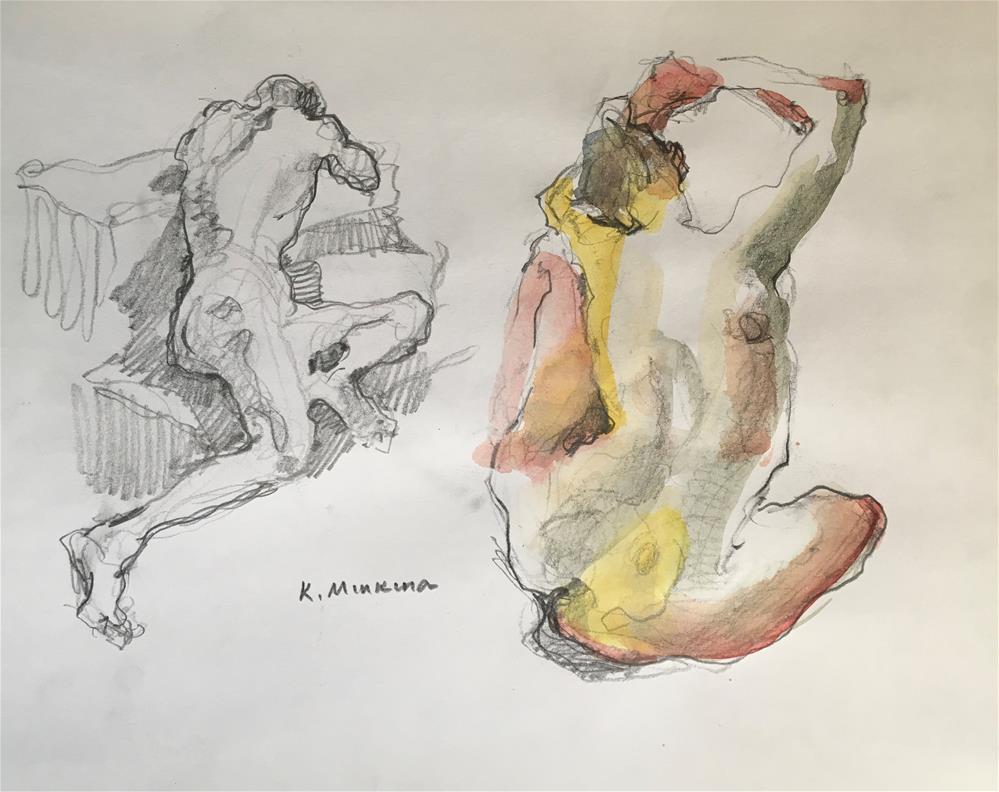 """figuary31"" original fine art by Katya Minkina"