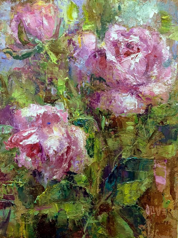 """""""Roses #3"""" original fine art by Julie Ford Oliver"""
