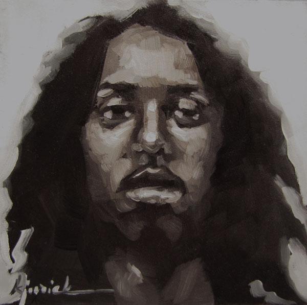 """100 Faces, No. 15"" original fine art by Karin Jurick"