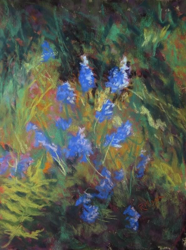 """""""Flower Dance"""" original fine art by Ruth Mann"""