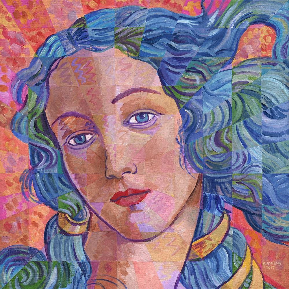 """""""Variations On Botticelli's Venus – No. 6"""" original fine art by Randal Huiskens"""