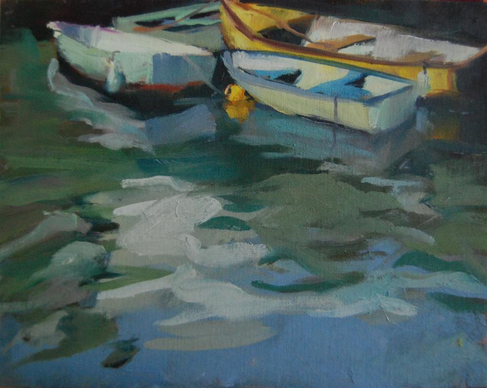 """""""A Sunny Day in Ballyhack, Ireland"""" original fine art by Margaret Dyer"""
