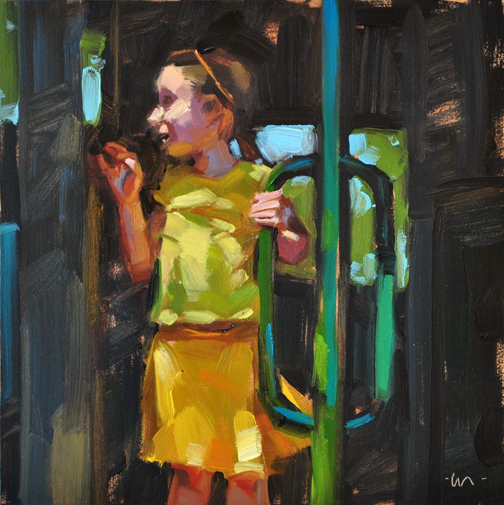 """Yellow Girl"" original fine art by Carol Marine"